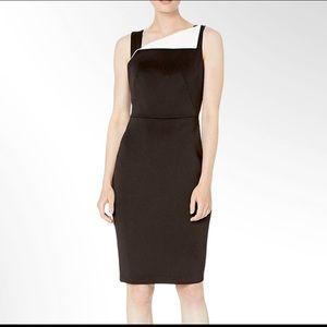 NWT Calvin Klein Fold-over Neck Sheath Dress